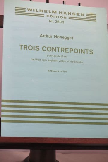 Honegger A - Choral (No 2 from Trois Contrepoints) for Violin Cello & Cor Anglais
